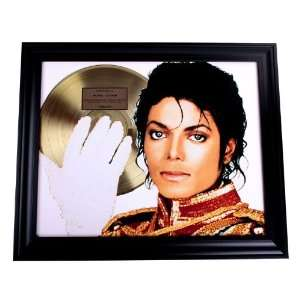 Michael Jackson Thriller White Glove Gold Record Award non