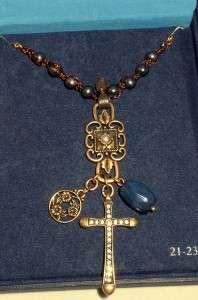 Lucky Brand Jewelry Faith Cross Charm Necklace NWT Goldtone