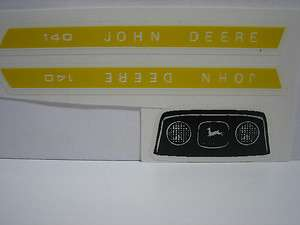 JOHN DEERE 140 ERTL TOY LAWN AND GARDEN TRACTOR DECALS