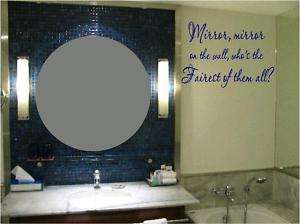 Mirror, mirror Snow White quote  girls wall decal