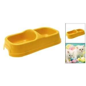 Como New Pet Dog Food Water Dish Feeder Bowl Plastic