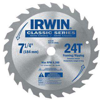 IRWIN 15130 Framing/Ripping Circular Saw Blade 7 1/4 024721666673