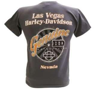 Harley Davidson Las Vegas Dealer Tee T Shirt Joker GRAY SMALL #BRAVA1