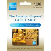 100 American Express Gift Card (purchase fee included) $100 American