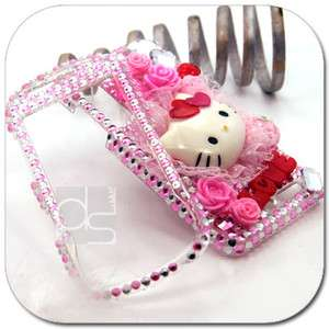Hello Kitty 3D Bling Crystal Gems Hard Skin Case Cover For AT&T LG