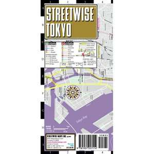 Streetwise Tokyo Map   Laminated City Center Street Map