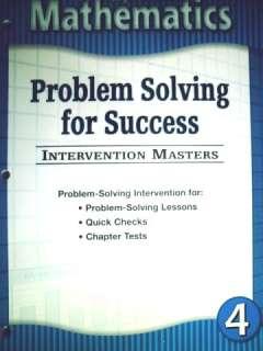 HOUGHTON MIFFLIN 4TH GRADE 4 MATH Test Answers Workbook