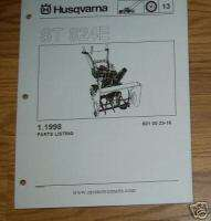 HUSQVARNA ST824E SNOW BLOWER PARTS CATALOG