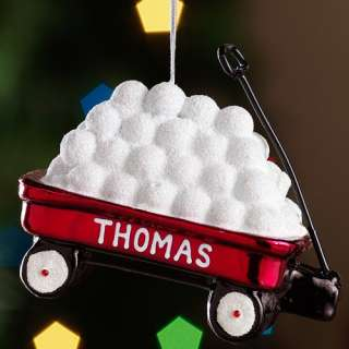 Personalized Red Wagon Christmas Ornament Personalized Gifts