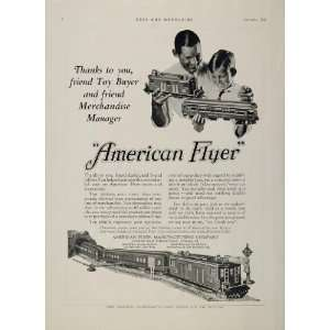1926 Ad American Flyer Model Miniature Train Railroad