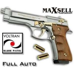 Jackal   Nickel Gold   Full Auto Machine Gun Pistol