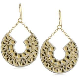 Anna Beck Designs Lombok Crescent Moon Mosaic 18k Gold Plated