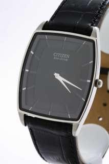 Citizen Mens Watch Stiletto Black Strap AR3020 02E NEW