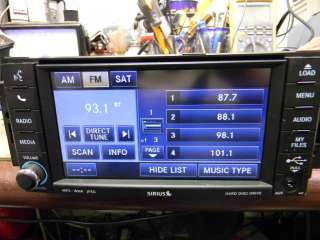 CHRYSLER DODGE JEEP MYGIG DVD Hardrive Sirius RADIO P0506959AF LOW BUS
