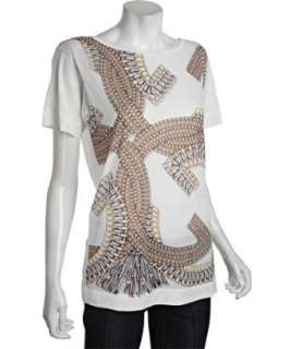 Gucci white sheer cotton crystal graphic t shirt  BLUEFLY up to 70%