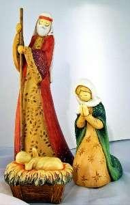 Nativity Set 3 Figures Holy Family Joseph Mary Baby MIB
