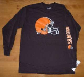 Mens NFL Football Cleveland Browns T SHIRT Long Sleeve Size Sm Med