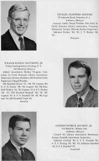 NH Concord School Yearbook~Photographs~Football~Baseball~John Kerry