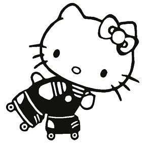 Hello Kitty ROLLER Skate Derby Decal Vinyl Sticker