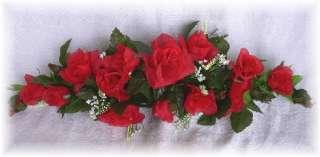 ROSE SWAG RED Wedding Table Centerpiece Silk Flowers Arch Gazebo Decor