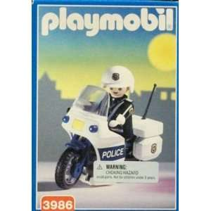 Playmobil Police Series: Policeman with Motorcycle: Toys