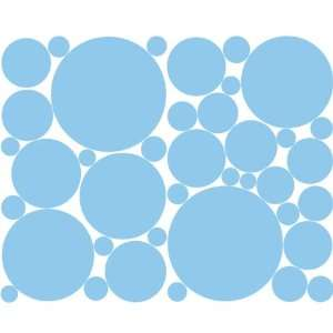 Pale Blue Polka Dot Wall Sticker Set