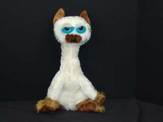 LONGNECK CRAZY SIGNEES BLUE EYED KITTY CAT KITTEN PLUSH STUFFED ANIMAL