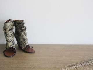 Isabel Marant YOYO Wedge Boots Heels 39 8.5 9 KHAKI