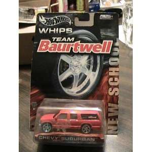 Hot Wheels Whips Team Baurtwell New School Red Chevy